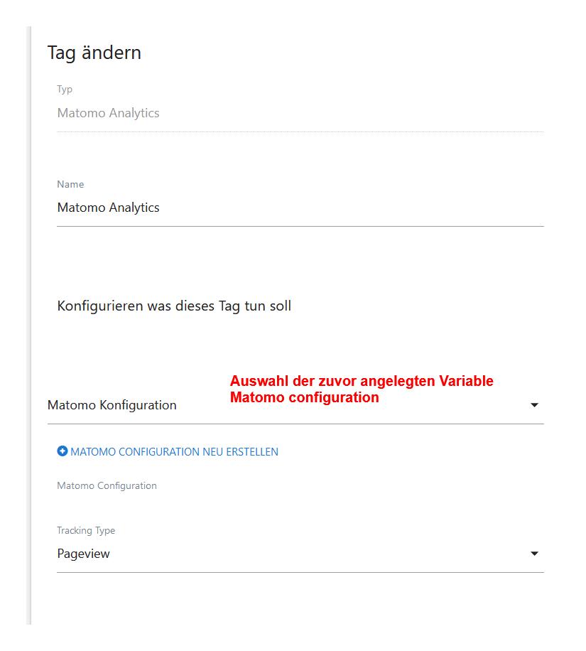 matomo konfiguration tag