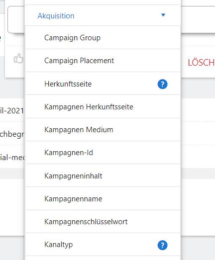 Kampagnentags als Segmente bei Matomo
